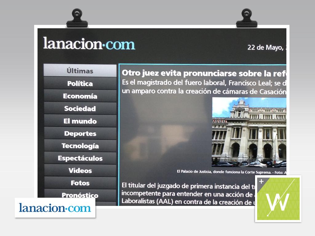 2013 - La Nación - Smart TV App