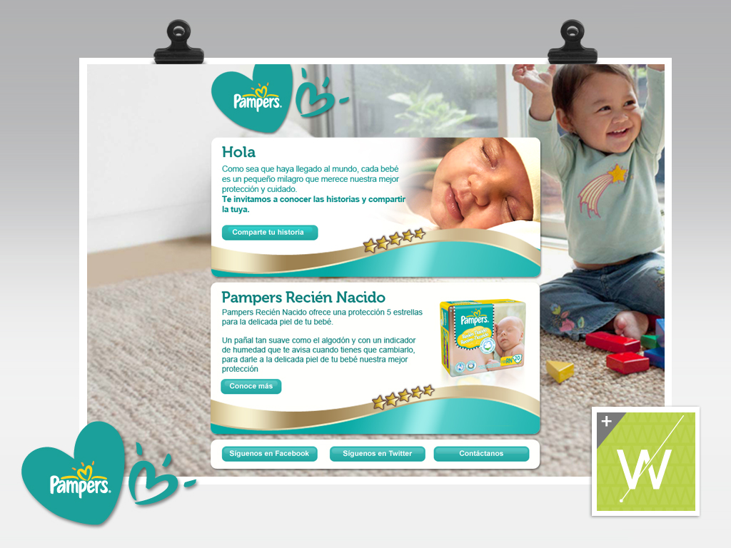 2012 - Pampers / Mailing