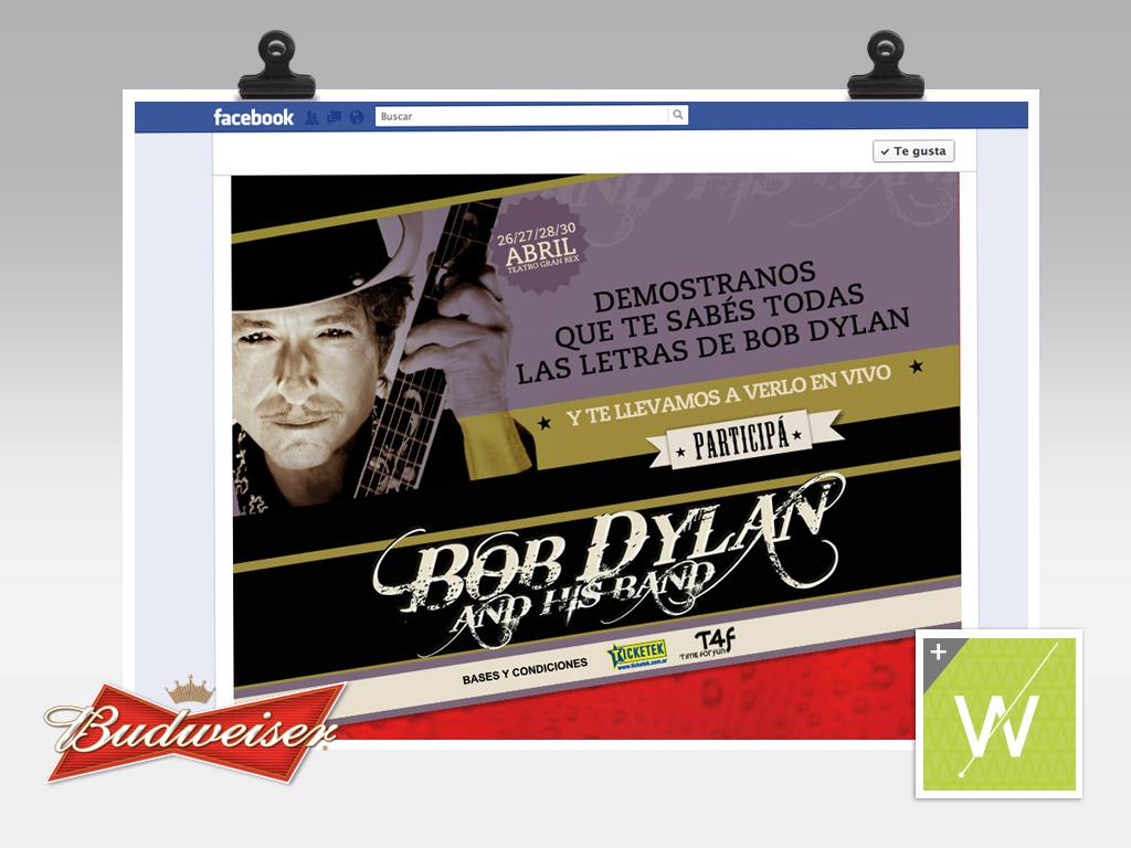 2012 - Budweiser - Bob Dylan